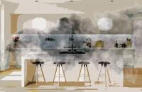 Bucătărie open-space fără răspândirea mirosurilor și a căldurii în living. SOS, designer!