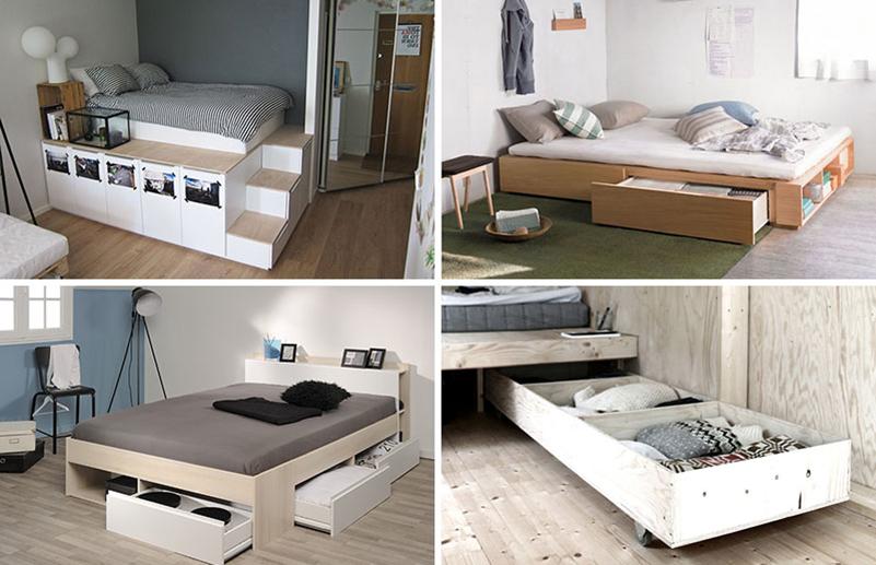 Idei pentru depozitările de sub pat