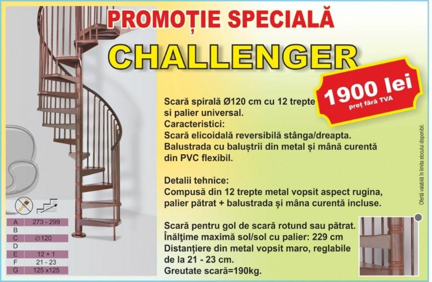Scara în spirală Challenger - Promoție specială