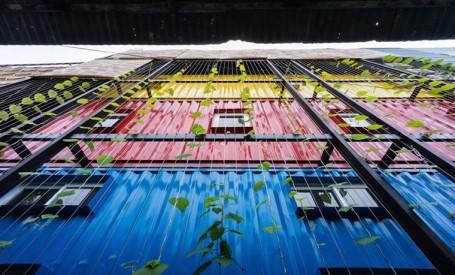 Un hostel realizat integral din containere de marfa