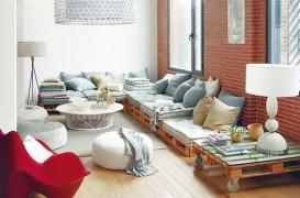 Mobilierul realizat din paleti, accent industrial pentru interioare
