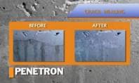 Hidroizolarea si impermeabilizarea permanenta aplicare pe suprafata umeda PENETRON patrunde in canalele capilarele suprafetei betonului prin