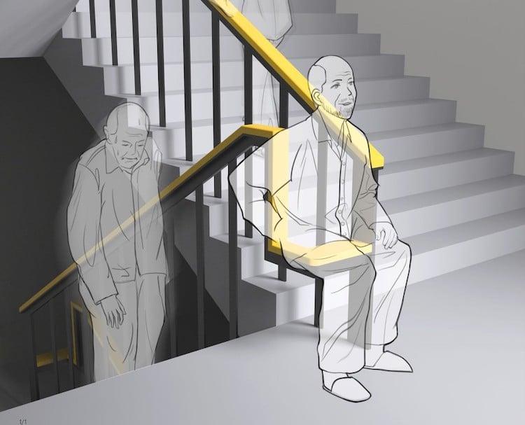O ajustare simplă a designului scării o poate face mai uşor de urcat şi de coborât