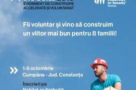 Habitat for Humanity caută 100 voluntari care vor construi 8 case în 5 zile la BIG BUILD 2018