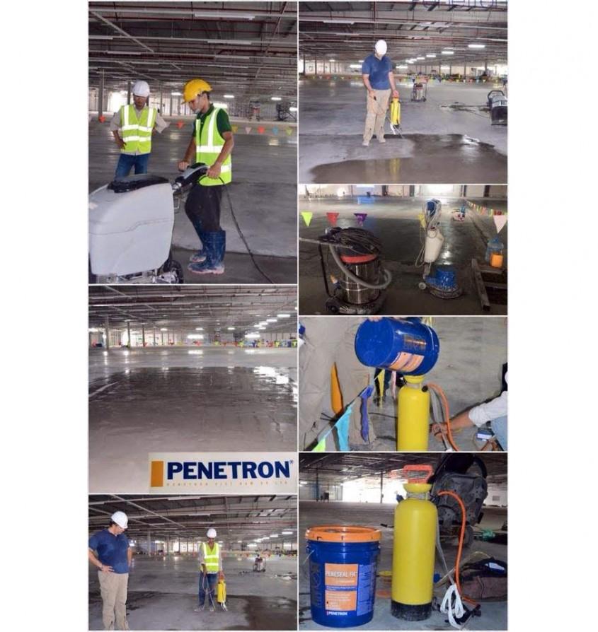 Impermeabilizare și durificare pardoseli industriale din beton - Soluții inovatoare de la Penetron