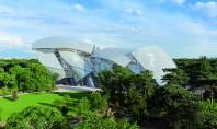 Fundatia Louis Vuitton Paris - o constructie avangardista un simbol al arhitecturii moderne Pardoseala fundatiei Louis