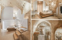 Apartamente de lux amenajate in vechi caverne, pentru turisti dornici de experiente noi Aceste caverne din Italia, a caror vechime se numara in mii de ani, au fost recent transformate in apartamente decorate cu gust pentru a putea primi turistii dornici sa experimenteze.