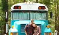 Un vechi autobuz scolar convertit intr-o locuinta confortabila pe roti In prezent casa pe roti are