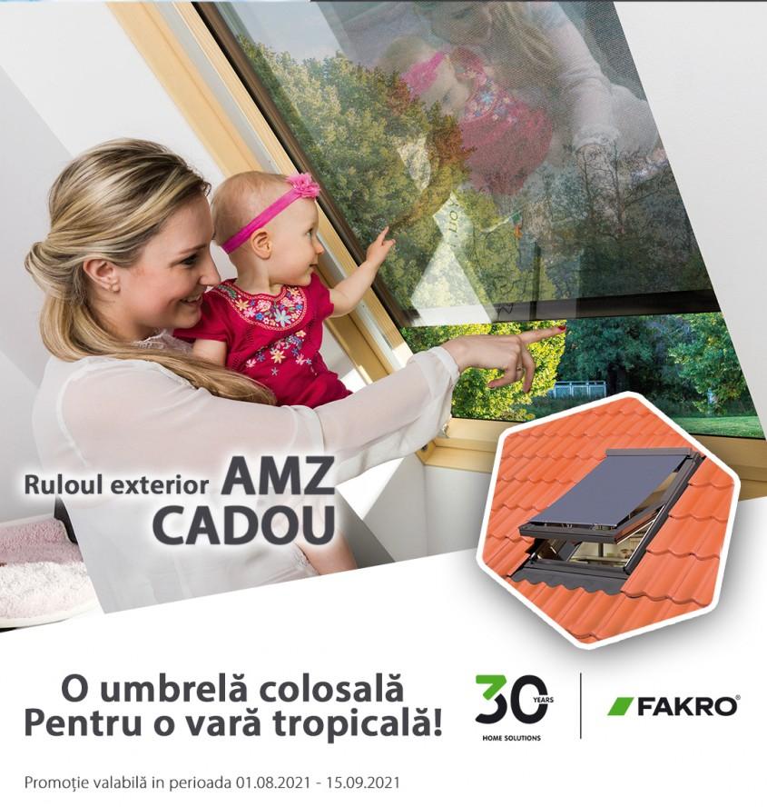 Promoție FAKRO - O umbrelă colosală, pentru o vară tropicală!