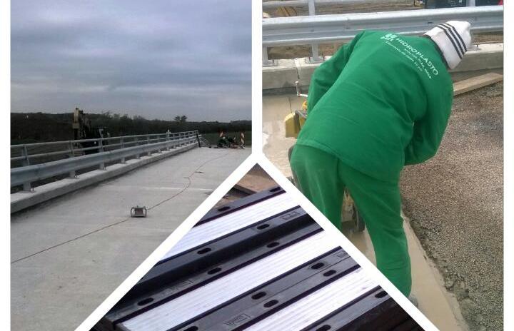 Hidroplasto a finalizat lucrarile de instalare dispozitive de acoperire rosturi dilatatie la podul din Rovinita Mare