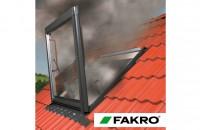 """Fereastra pentru evacuarea fumului FAKRO FSP: o """"cale de salvare"""" in timpul unui incendiu FAKRO are in oferta sa si produse speciale care sunt utilizate in sistemele de protectie impotriva incendiilor."""