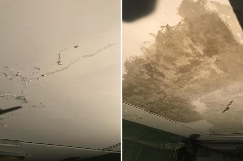 Reparația fisurilor din tavan - Parcare Timișoara