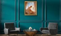 5 motive pentru care să combini parchetul Chevron cu tablouri de pictori contemporani Lemnul natural are