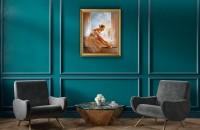 5 motive pentru care să combini parchetul Chevron cu tablouri pictate de pictori contemporani