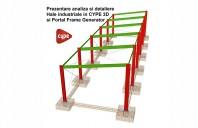 Prezentarea unei hale industriale in CYPE 3D si Portal Frame Generator