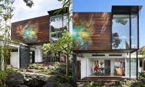 O casă eficientă construită din materiale reciclabile