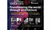 "Invitaţie webinar ""Transforming the world through architecture"" Pus sub semnul ""Restart"" webinarul din 12 mai are"