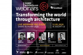 "Invitaţie webinar ""Transforming the world through architecture"""