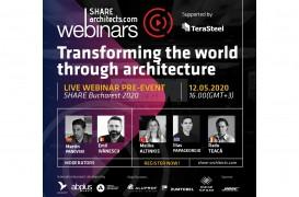 "Invitaţie webinar ""Transforming the world through architecture"""