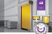 Ușa rapidă pentru exterior Dynaco D-6 cu deschidere în ~1.5 secunde