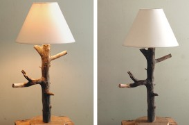 Lampi unicat - crengute, ramurele, becuri si abajururi