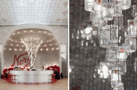 Peste 4.000 de borcane din sticlă folosite pentru pereții și tavanul unui bar