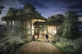Un centru de sprijin pentru pacienţii bolnavi de cancer sub forma unor jardiniere supradimensionate
