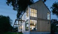 Casa in Texas al carei volum aminteste de hambarele traditionale Echipa Pavonetti Architecture a creat o