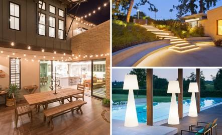 Soluții pentru iluminatul terasei și al grădinii
