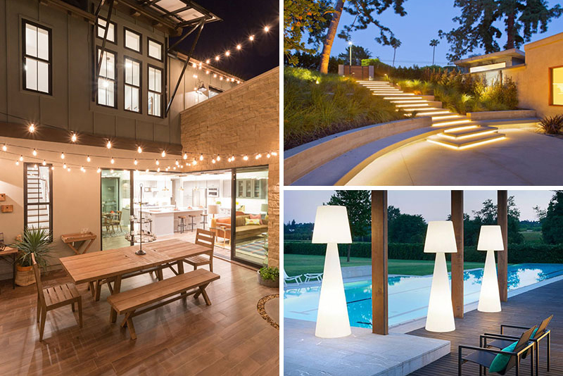 Câteva soluții pentru iluminatul terasei și al grădinii