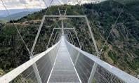 Cel mai lung pod pietonal suspendat din lume (Video) Construit în munţi în apropierea oraşului Arouca