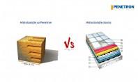 Penetron vs hidroizolația clasică Din Sistemul Penetron fac parte materiale speciale de hidroizolare - impermeabilizare pe