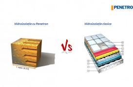 Penetron vs. hidroizolația clasică