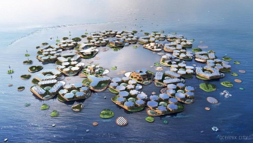 oras plutitor - Orașul plutitor autonom cu 10.000 locuitori, propus de ONU și de arhitecți