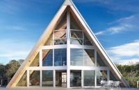 O casa din anii '60 isi primeste portia de modernitate Echipa Bromley Caldari Architects din New York a reusit sa transforme o casa ponosita din insula Fire intr-o constructie piramidala, cu design contemporan ce ofera perspective spectaculoase spre golf.