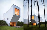 Casa cu forme asimetrice si spatii interioare fluide