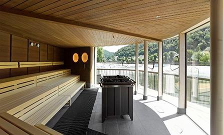 O sauna plutitoare, relaxare la un alt nivel