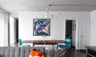Apartament cu design industrial in Montreal Desi apartamentul a fost cumparat cand inca era la faza