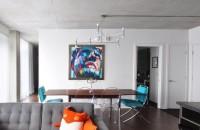 Apartament cu design industrial in Montreal