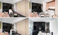 Un perete dintr-un micro-apartament mascheaza mai multe functiuni Biroul de proiectare MKCA a finalizat un proiect