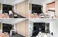 Un perete dintr-un micro-apartament mascheaza mai multe functiuni Biroul de proiectare MKCA a finalizat un proiect de reamenajare al unui apartament de doar 20mp din New York.