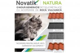 Avantajele Novatik NATURA, noua generație de țigle metalice cu acoperire de rocă vulcanică