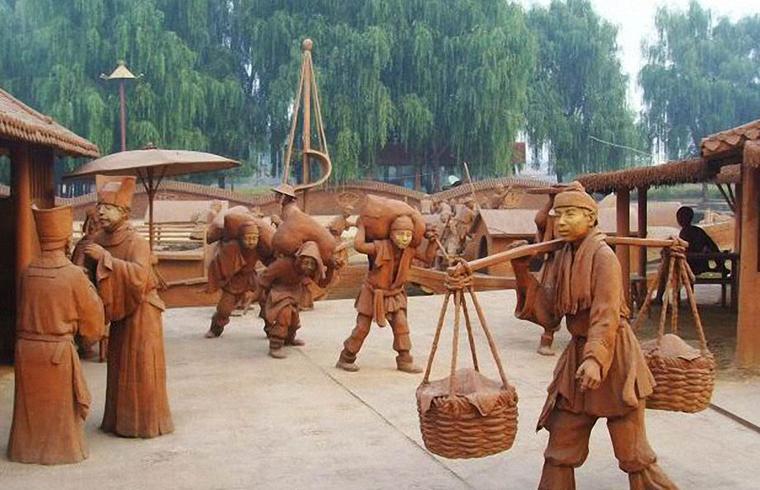 Un sat intreg realizat din ceramica!