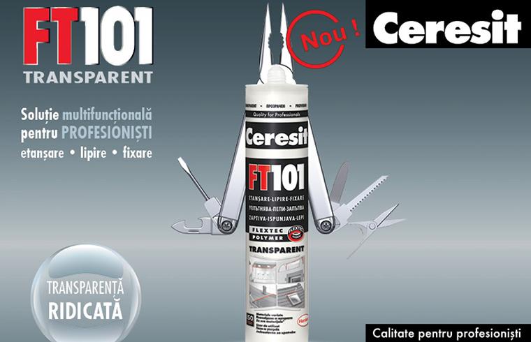 Ceresit FT101 transparent, solutia multifunctionala pentru profesionisti