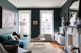 Interioare contemporane cu elemente traditionale intr-o casa din Brooklyn Heights