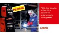 Promotie la echipamentele pentru sudare semi-automata Lorch MicorMIG Heavy-Duty! Platiti doar aparatul iar urmatoarele functii si