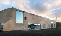 Casa din lut calcar si sticla ce reflecta relieful vulcanic Casa Tegoyo a fost realizata de