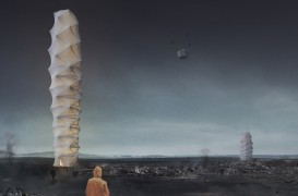 Un zgârie-nori ca un acordeon pentru zonele afectate de dezastre a câștigat competiția eVolo Skyscraper 2018
