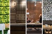 Accente pentru pereţi realizate din materiale neaşteptate