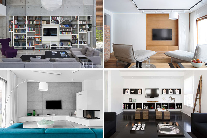 idei pentru designul zonei tv din living. Black Bedroom Furniture Sets. Home Design Ideas